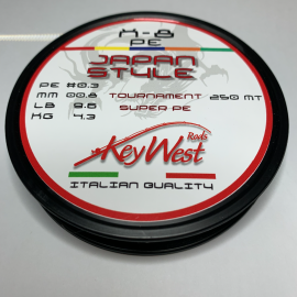 Key West Japan Style Tournament Super PE #0.3 250mt X-8 Multicolor